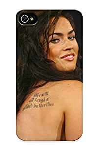 Premium Tattoos Women Megan Fo Back Cover Snap On Case For Iphone 4/4s