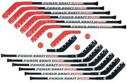 Cosom Senior Hockey Sticks for床Hockey and Street Hockey、プラスチックPhys Ed、ホッケートレーニング、練習機器、16ピース12プラスチックスティック、2 Pucks、と2ボール、47、