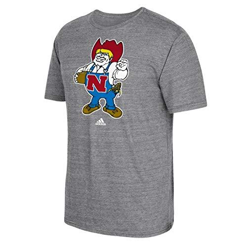 adidas Nebraska Cornhuskers Vintage Logo Premium Tri-Blend T-Shirt