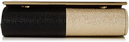 SwankySwans - Sam Glitter Color Block, Pochette da giorno Donna Oro (Black Gold)