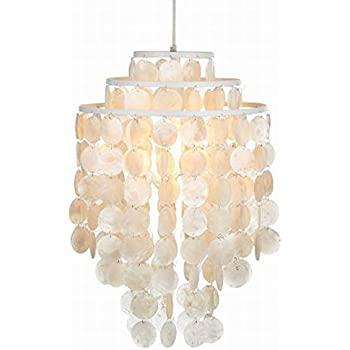 Capiz chandelier centerpiece suitable for high and low ceiling rooms modern fashion 3 circle diy white seashell capiz pendant lamp lighting diameter 35cm ceiling fixture round mozeypictures Image collections