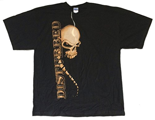 Disturbed Spine Skull 2008 Tour AR-OH Black T Shirt (2X)