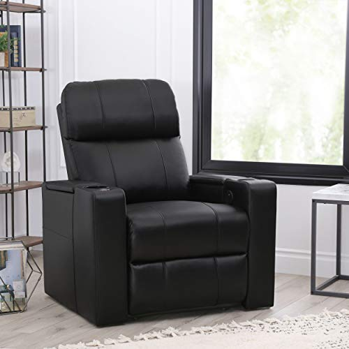 Abbyson Living Faux Leather Upholstered Power