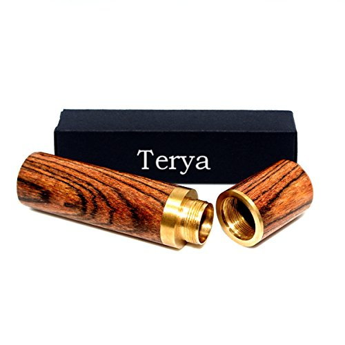 Terya Wood Toothpick holder Portable Toothpick Holder Dispenser Pocket Toothpick Holder (Stripe)