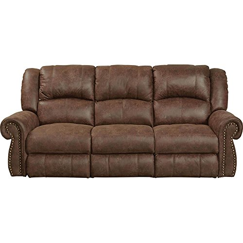 Catnapper 1051130459 Westin Reclining Faux Leather Sofa - Tanner 1051-1304-59