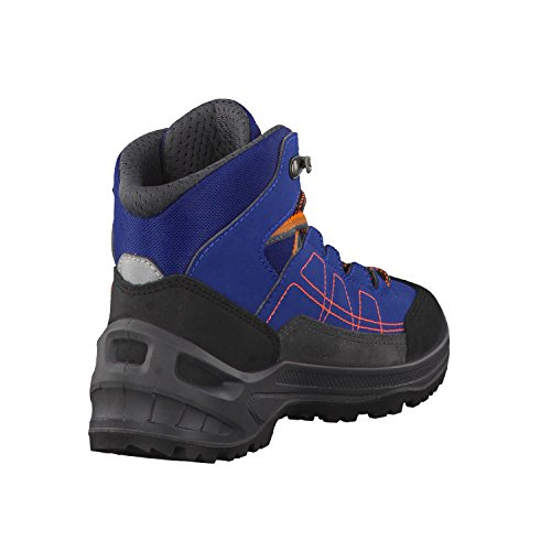 Lowa Unisex-Kinder Approach Gtx Mid Junior Wanderstiefel Blau/Orange