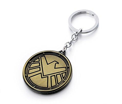 REINDEAR Avengers Agents of SHIELD Logo Metal Pendant Keychain - Shield Logo Pendant