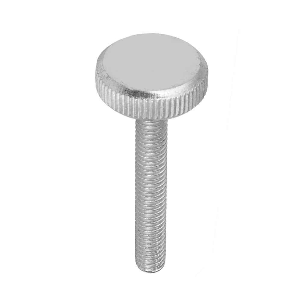 Tornillo de cabeza moleteada-M6 Acero al carbono galvanizado Pernos de cabeza moleteada plana Tornillos de pulgar M6*40(1pcs)