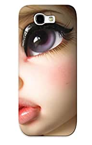 Awesome Fkdybi-2521-xhptljt Exultantor Defender Tpu Hard Case Cover For Galaxy Note 2- Toys Doll Girls Women Face Eyes Lips Anime Redheads