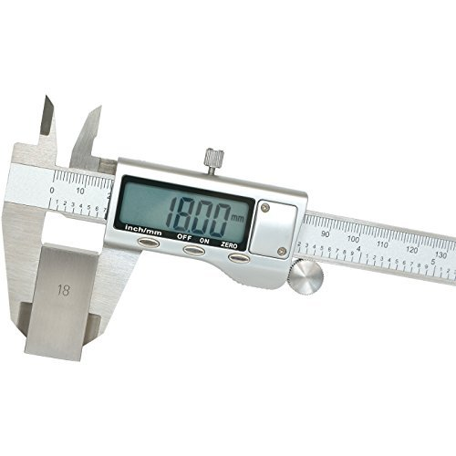 Delcast V02 Digital Caliper, SAE / Metric Conversion with 6-Inch Range, Stainless Steel by Delcast