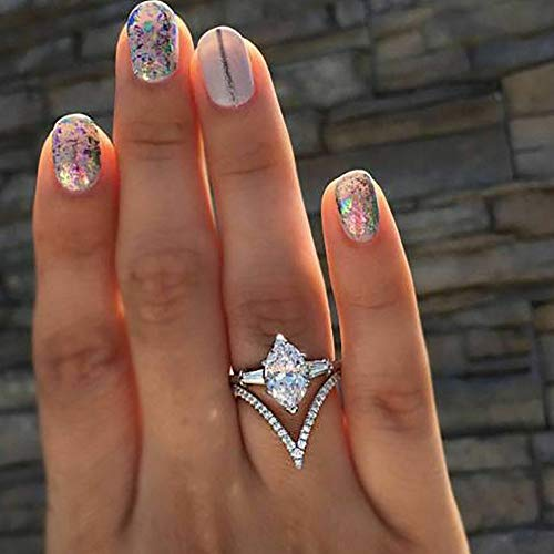 - Dokis 925 Silver Ring Woman Man White Fire Opal Moon Stone Wedding Engagement Size6-10 | Model RNG - 4069 | 9
