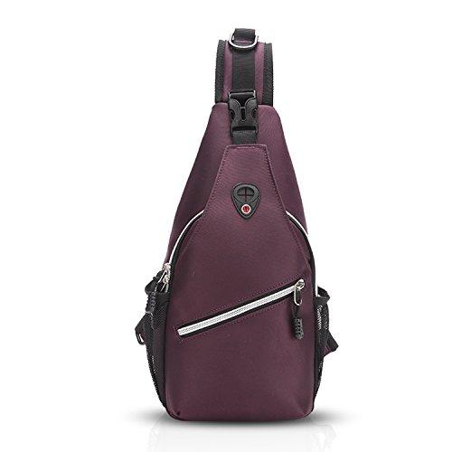 aa903469bf48 FANDARE Sling Bag Backpack Chest Pack Bag Single Men/Women Polyester Purple