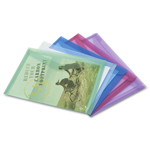 Rapesco Eco Popper Wallet Biodegradable Polypropylene A3 Assorted [Pack Of 5] May 2010 - Apr ()