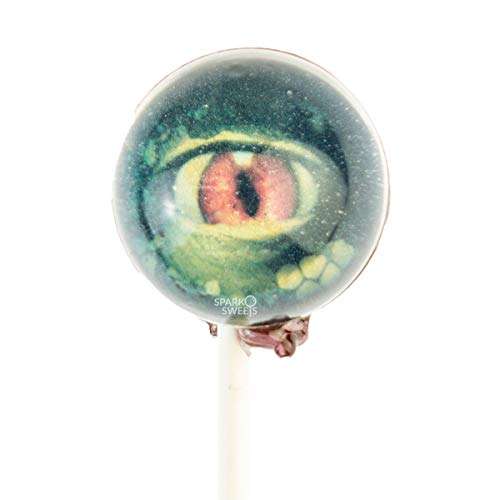 Scary Reptile Eyes 3D Lollipops with Gift Packaging, 10 Lollipops, 3D Spherical Designs, Handcrafted in USA, 1 Pound]()
