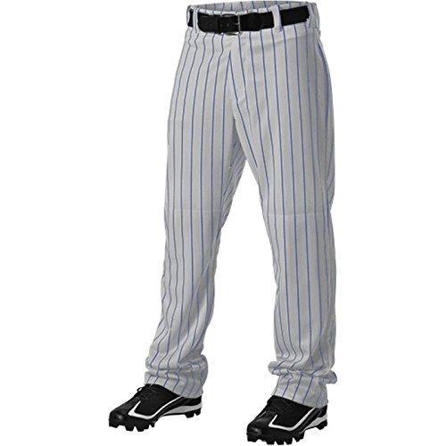 Alleson Athletic Adult Pinstripe Baseball Pant, Grey/Royal, X-Large  ()