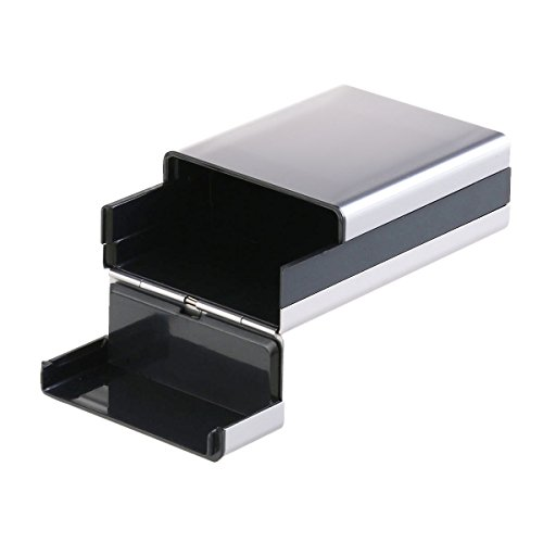 Pixnor Reisen Sie Aluminium Zigaretten Tabak Fall Lagerung Halter Tasche Box grau IpkzIk