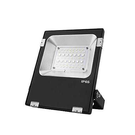 Foco Proyector LED RGB + CCT Nichia LED de 20W, RF ...