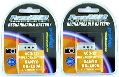 2db-l90a db-l90db-l90au電池for Sanyo vpc-sh1、Sanyo vpc-sh11、Sanyo dmx-sh1、Sanyo dmx-sh11