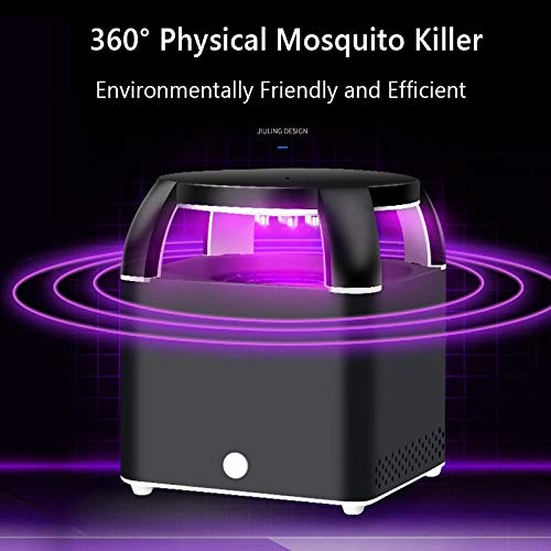 USB Electronics Square Mosquito Trap Killer Anti Mosquito Repeller Silent Without Radiation Electric Bug Zapper Mosquito Killer   Black