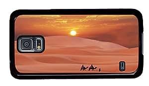 Hipster Samsung Galaxy S5 Case grove desert evening sun PC Black for Samsung S5