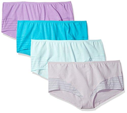 Fruit Of The Loom Women's 4 Pack Coolblend Boyshort Panties, Assorted, 7