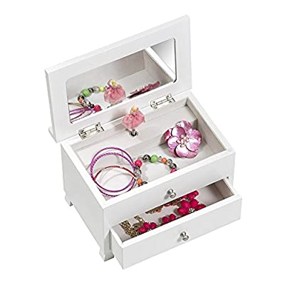 Mele & Co. Emmy Girls Wooden Musical Ballerina Jewelry Box - 8.5L x 5.13W in.: Home & Kitchen
