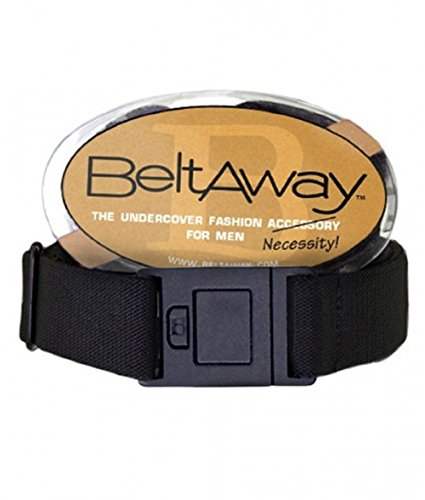 Beltaway Men's Belt - Stretch Flat Square Buckle Belt One Size - (Square Buckle Belt)