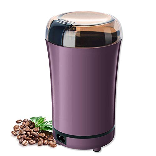 Coffee Grinder, Huaguo Electric Coffee Bean Grinder with Stainless Steel Blade Fast Grinding for Coffee, Spices, Nut and Herb, Detachable Power Cord & Little Brush Included (Purple)