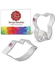 Ann Clark Cookie Cutters 2-delige Mooie Glimlach/Tandarts Koekjesvormset met Receptenboek, Mond en Tand
