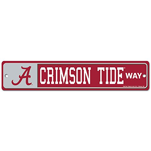 WinCraft NCAA University of Alabama 89334010 Street/Zone Sign, 4.5