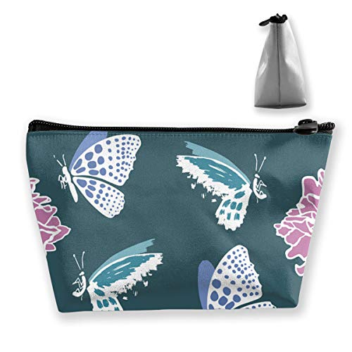 Yunshm Butterflies in Flowers Personalized Trapezoidal Storage Bag Ladies Waterproof for Carrying Travel]()