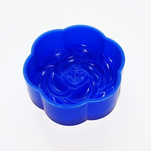 X-Haibei Round Flower Soap Candle Silicone Mold Making for Homemade Supplies - Flower Silicone Candle
