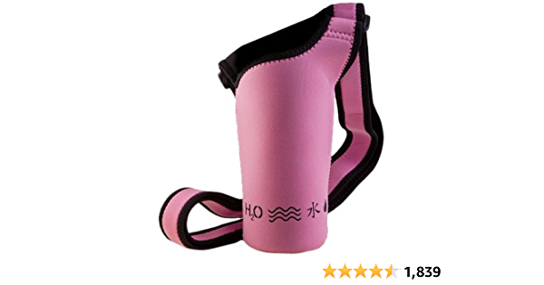 MELANIES POWER Water Bottle Carrier 17oz//25oz//34oz Wine Tea Bottle Sleeve Holder Sling Insulated Outdoor Sports Camping Travel Cross-Body Shoulder Bag Case Pouch Cover M(for 25oz bottle) Flower