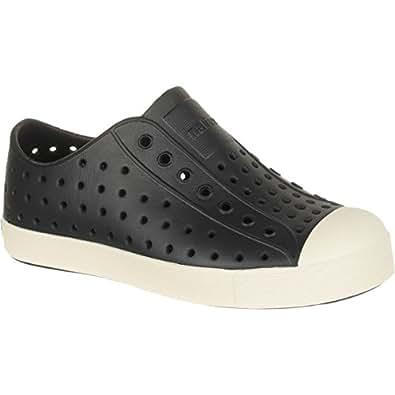 Native Kids Shoes Unisex Jefferson (Little Kid) Jiffy Black/Bone White Sneaker 1 Little Kid M
