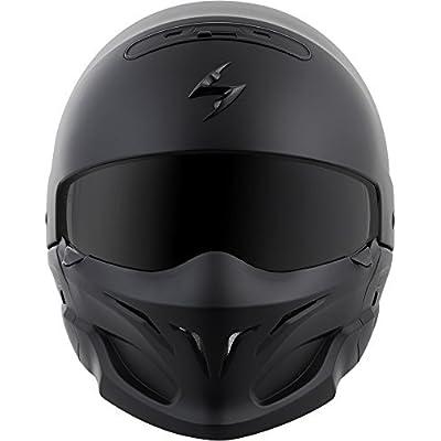 ScorpionExo Covert Unisex-Adult Half-Size-Style Matte Black Helmet (Matte Black, Large) (COV-0105): Automotive