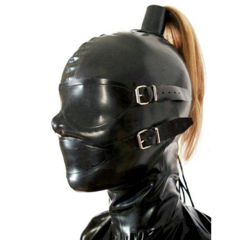 rubber hood mask - 7
