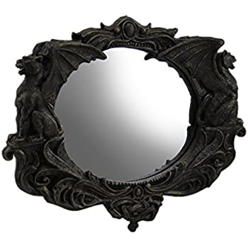 Resin and glass wall mounted mirrors gothic for Better homes and gardens baroque wall mirror black