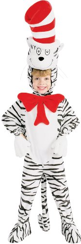 Cat In The Hat Striped Costume, Small - Ham And Egg Costumes