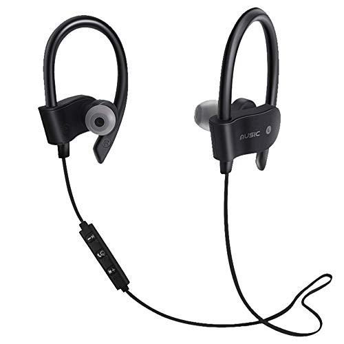 Lljin Wireless Bluetooth Headset Headphones Sport Sweatproof Stereo Earbuds Earphone (Ship from US) (Black)