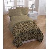 6pc Boy Duck Dynasty Green Camo Queen Comforter, Blanket & Sheet Set(6pc Set)