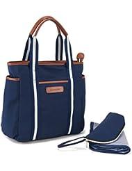 Mufly Diaper Bag, 9 Pockets Multi-Function Large Capacity Waterproof Travel Backpack Nappy Bag (Dark Blue)