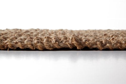 Iron Gate Handspun Jute Area Rug 2x3 Hand woven by Skilled Artisans, 100% Natural eco-friendly Jute yarns, Thick ribbed construction, Reversible for double the wear, Rug pad recommended by Iron Gate (Image #3)