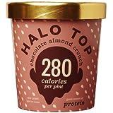Halo Top, Chocolate Almond Ice Cream, Pint (Pack of 8)