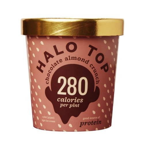 Halo Top, Chocolate Almond Ice Cream, Pint (Pack of 8)