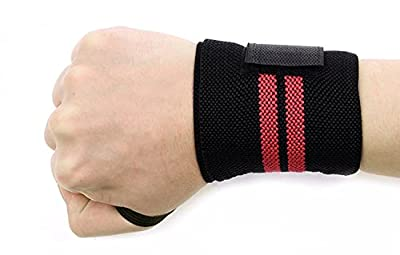 Feeling Love Sports Wrist Brace- Adjustable Wrist Support Wrist Brace for Bodybuilding Tennis Basketball Weightlifting ect...Left and Right Apply - for Women and Men(black)