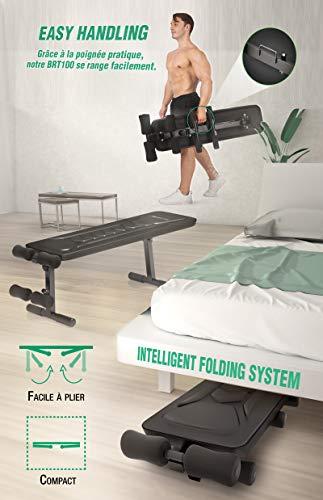 sportstech banc de musculation brt500 brt100 appareil. Black Bedroom Furniture Sets. Home Design Ideas