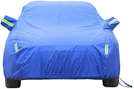 DUWEN 起亜Rio5アウトドアカーカバーオールウェザーユニバーサル通気性防水オートカバー防塵アンチUVサンオートプロテクターカバーと互換性 (Color : Blue, Size : 2012 LX 4dr Hatchback)