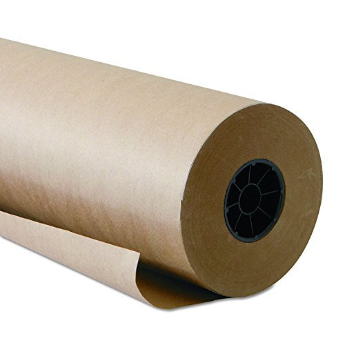 Brown Kraft Paper Roll 48 x 2400 Inches (200 Feet Long) 2 Rolls - 100% Recycled Materials, Multi-use, Crafts, Gift Wrapping, Shipping, Art Wrap by Woodpeckers