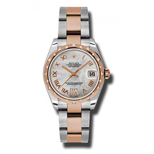 - Rolex Datejust Lady 31 Mother of Pearl Steel and 18kt Rose Gold Ladies Watch 178341MRDO
