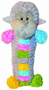 Patchwork Pet Pastel Monkey Stick 35-Inch Squeak Toy for Dogs